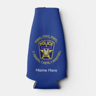 Police Badge VVV Custom Bottle Cooler