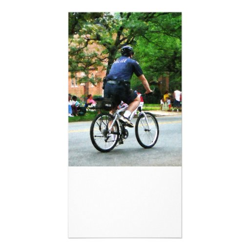 Police Bicycle Patrol Picture Card