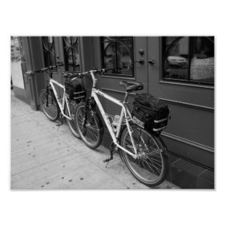 Police Bicycles Toronto Canada B&W Photograph Poster
