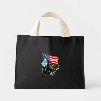 Police Bikers Mini Tote Bag