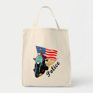 Police Bikers Grocery Tote Bag