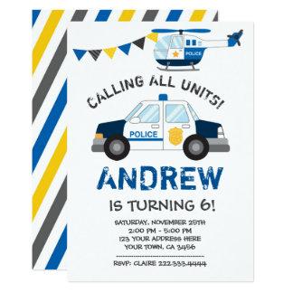 Police Birthday Invitation