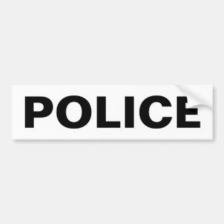 POLICE - Black Logo Emblem Bumper Sticker