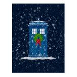 """Police Box in Christmas Snow"" Postcard"
