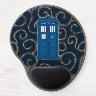 """Police Box with Swirls"" Gel Mousepad"