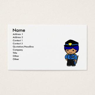 Police Boy Business Card