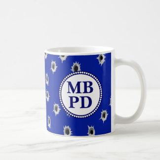 Police Bullet Holes Monogram Department Coffee Coffee Mug