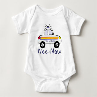 police car baby bodysuit