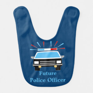 Police Car | Future Police Officer | Personalized Baby Bibs