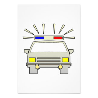 Police Car Custom Invitation