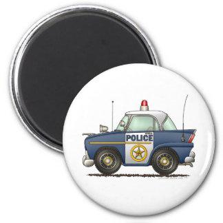 Police Car Law Enforcement 6 Cm Round Magnet