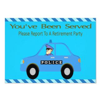Police Car Officer Retirement Invitation