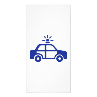 Police car photo greeting card