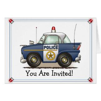 Police Car Police Crusier Cop Car Party Invitation