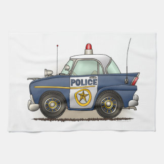 Police Car Police Crusier Cop Car Tea Towel