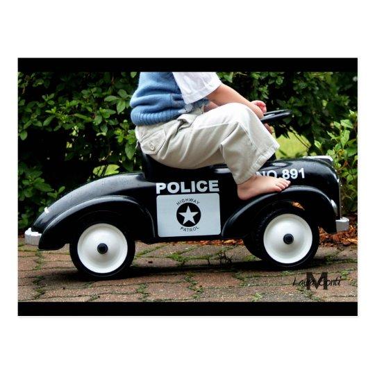 Police Car Post Card