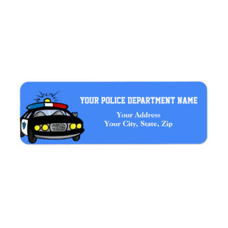 Police Car Return Address Label
