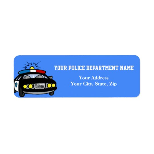 Police Car Return Address Label