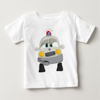 Police Car with Custom Sheriff Name Baby T-Shirt