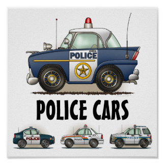 Police Cars Law Enforcement Vehicles Poster