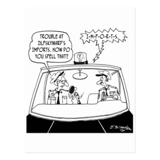 Police Cartoon 5125 Postcard