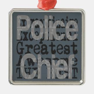 Police Chief Extraordinaire Metal Ornament