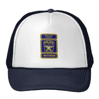 Police Chief Retired Badge Mesh Hat