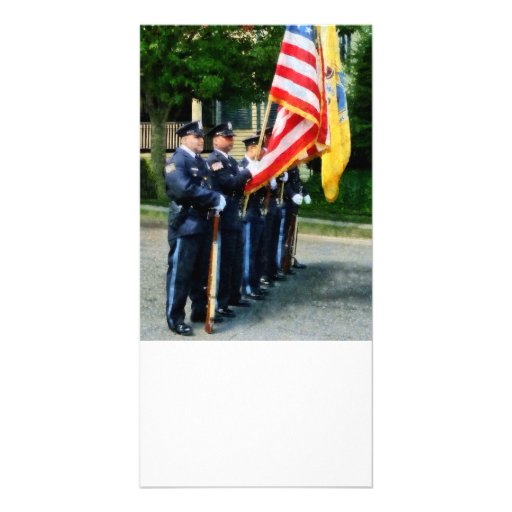 Police Color Guard Picture Card