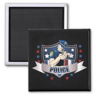 Police Crest Square Magnet