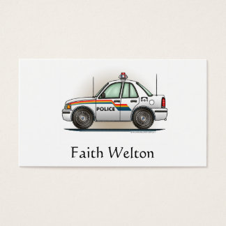 Police Cruiser Car Cop Car Business Card