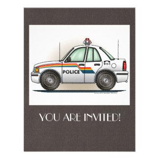 Police Cruiser Car Cop Car Announcement