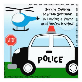 Police Customized Birthday Invitation