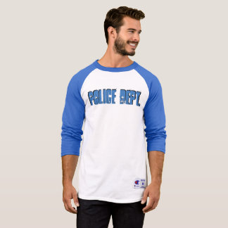 Police Department Raglan Shirt Long Sleeve Blue