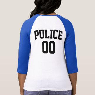 POLICE DEPARTMENT RAGLAN TSHIRT