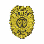 Police Dept. Badge Embroidered Track Jackets