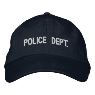 Police Dept. Hat Embroidered Cap