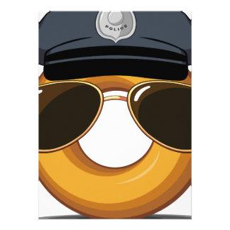 Police Donut Custom Invite