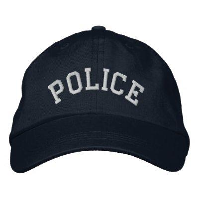 Police Embroidered Baseball Caps
