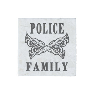 Police Family Tattoo Stone Magnet