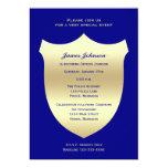 Police Graduation Invitations, Badge on Navy