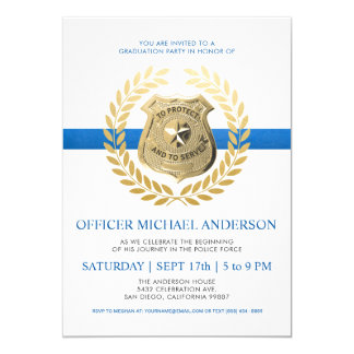 Police Graduation Invitations | Police Badge