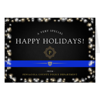 Police Happy Holidays | Christmas Custom Card