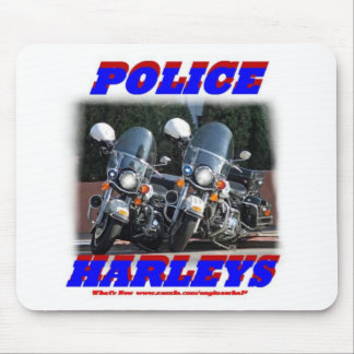 Police Harleys Mouse Pads