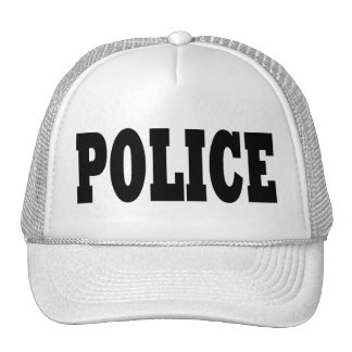 Police Hat - black text