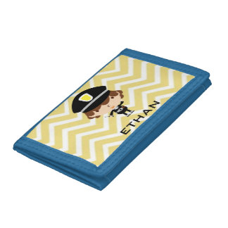 Police Highway Patrol or Traffic Controller Trifold Wallets