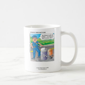 Police Humor Assault & Battery Funny Coffee Mug