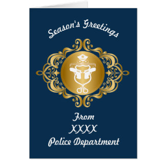 Police Icon Emblem Christmas Card