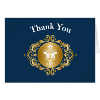 Police Icon Emblem Thank You Card