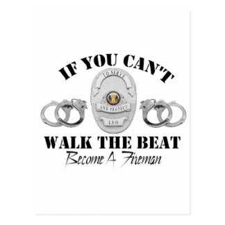 Police  If you Can't Walk the Beat Postcard