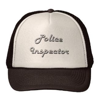 Police Inspector Classic Job Design Trucker Hat